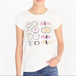 J. Crew Sushi Collector Graphic Tee Size Medium
